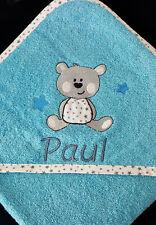 Kapuzenbadetuch Name  Namen Baby Handtuch Kinder Hund Bär Marken-Handtuch Jungen