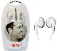 MAXELL WHITE COLOR EB-98 EARPHONES HEADPHONES NEW BOXED