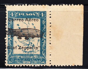 MINT 1931 Paraguay Graf Zeppelin #C55 w/Selvage MNH Airmail