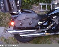 SUZUKI C800 C 800 INTRUDER MOTORCYCLE LEATHER SADDLEBAGS PANNIERS