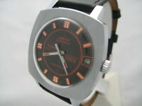 NOS NEW VINTAGE RARE WATER RESIST WITH DATE AUTOMATIC JGEHA ANALOG WATCH 1960'S