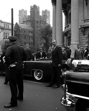 President John F. Kennedy gets in limousine at Yale University New 8x10 Photo