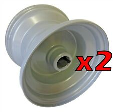 """Set of Two 7"""" x 5-3/4"""" Rims (1"""" Bore) For Go Kart Wheel Tire Cart Parts New"""