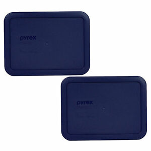 Pyrex 3 Cup Rectangular 2PK Storage Lid Cover Blue 7210-PC New for Glass Dish