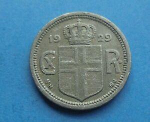 Iceland, 10 Aurar 1929, Scarce, Key Date, as shown.