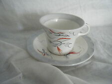 C4 Pottery Barratts Swan in Flight Cup & Saucer 14x7cm 7F4B