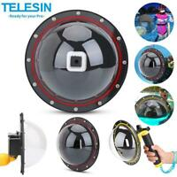 Telesin Waterproof Dome Port Lens Cover Diving Housing Case for GoPro Hero 3/6/7