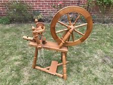 More details for spinning wheel in english oak with additional bobbins