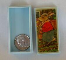 "Miniature Box & Lid Peter Rabbit Beatrix Potter Plastic 2""x1""x3/4"" Tiny Small"