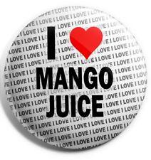 I Love Mango Juice Badge Magnet Back - Birthday - Gift - Stocking Filler