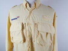 Men's Cabela's GuideWear Xl Reg Yellow Button Front Vented Fishing Outdoor Shirt