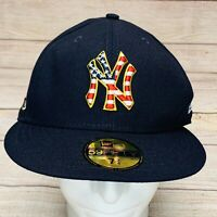 New York Yankees Stars Stripes 4th July New Era On-Field 59FIFTY Cap Hat 7 1/8