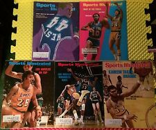 Set of 5 Vintage NBA Los Angeles Lakers Sports Illustrated Magazines VG 1965-77