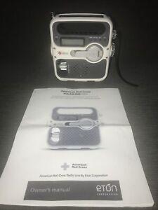 Rare White Eton FR360 Solar American Red Cross Emergency Multi Function Radio ++