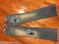 NEW PARASUCO Jeans, SIZE 29, Jewels, Paisley Decoration, People for Peace, USA