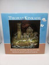 2004 Thomas Kinkade Lighted Lighthouse Clock Figurine Victorian Light New