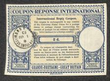IRC INTERNATIONAL REPLY COUPON GREAT BRITAIN 8d TYPE B6 1953
