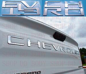 Chrome Raised Plastic Letters Inserts for Chevrolet Silverado 2019 2020 2021