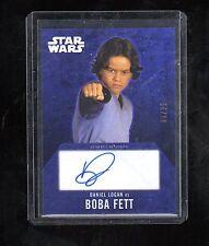 Star Wars Evolution Autograph Gold Daniel Logan as Boba Fett # 6/25