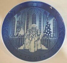 """1991 Royal Copenhagen Denmark Christmas Plate """" The Festival Of Santa Lucia """" 7"""""""