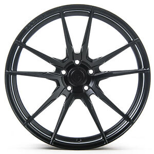 "19"" Rohana RF2 Matte Black Concave Wheels for Nissan"