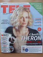 CHARLIZE THERON on front cover TELE MAGAZYN 4/2016