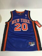 Vintage Nike #20 Allen Houston New York Knicks jersey youth Sz M + 2 Sewn Nwts