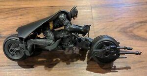 Dark Knight Batman Stealth Launch Bat Pod Vehicle Figure Toy Cycle Mattel Bale