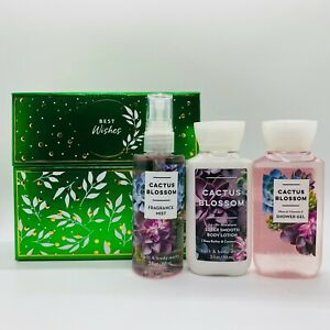Bath Body Works CACTUS BLOSSOM Gift Box Set Travel Mist Shower Gel & Body Lotion
