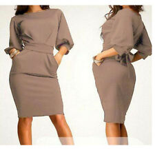 Elegant Women Office Formal Business Work Party Sheath Tunic Pencil Dress US
