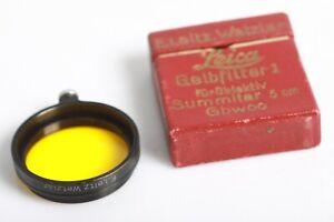 Leitz Wetzlar Leica Gelbfilter für Summitar 5cm GBWOO