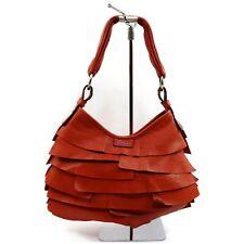 Authentic YSL Yves Saint Laurent Hand Bag Saint-Tropez Oranges Leather 906706