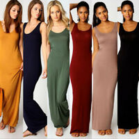 New Womens BOHO Long Maxi Evening Cocktail Party Sleeveless Beach Dress Sundress