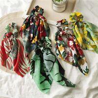 Boho Print Ponytail Scarf Bow Elastic Hair Rope Tie Scrunchies Ribbon Hair Band
