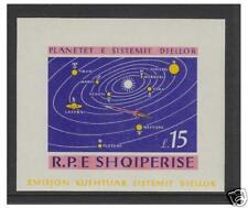 Albania - 1964 Solar System (Imperf) sheet - MNH - SG MS872a
