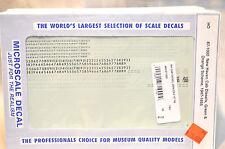 HO scale Microscale Decals New York Haven locomotives Green & Orange Scheme RR