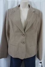 AGB Blazer Sz 8 Taupe Long Sleeve Business Cocktail Party Evening Blazer Jacket