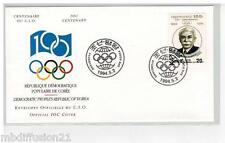 1994 - FDC 1°JOUR - COMITE INTERNATIONAL OLYMPIQUE - CIO - COREE -TIMBRE KOREA