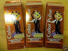 3 X L'Oreal Color Pulse Concentrated Color Mousse ( COOL BLONDE  #100) NEW.