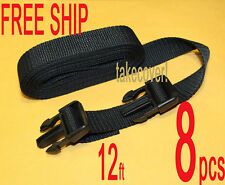 """8x BOAT COVER TIE DOWN STRAP KIT 1"""" x 12' w/2 MALE ENDS"""