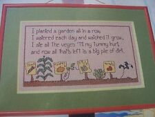 How Does Your Garden Grow Spring OOP Magazine Cross Stitch PATTERN (M)