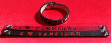 """#BR13V  I LOVE VAMPIRES  BRACELET 1/2"""" WIDE"""