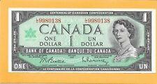 1967 CANADIAN 1 DOLLAR BILL L/O9980138 VERY NICE CRISP (CIRCULATED)