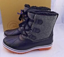 New JBU Size 9 M Brenda Herringbone Black Women's Snow Boots RETAIL $79