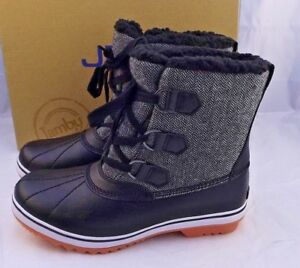 New JBU Size 7.5 M Brenda Herringbone Black Women's Snow Boots RETAIL $79
