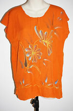 Top butterfly embroidered Hippie Top Rayon Free size casual beach boho 10-12