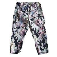 Rbx Womens Plus Size 1x Side Pocket Workout Active Leggings Multicolor