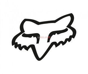 FOX TDC-Aufkleber: Head 25,5 cm, schwarz