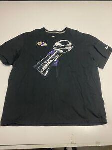 Baltimore Ravens NIKE NFL Lombardi Championship Men's T-Shirt Size 3XL Black