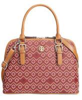 Giani Bernini NWT Saffiano Graphic Dome Satchel Wine Multi Color Handbag